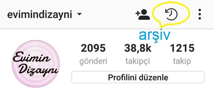 instagram arşiv özelliği