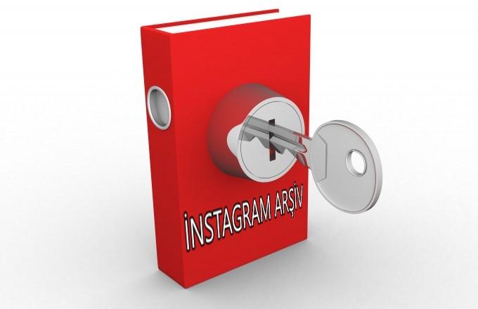 instagram arşiv fotoğraf sakla