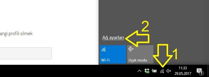 win10 wifi şifresi unut nasıl yapılır