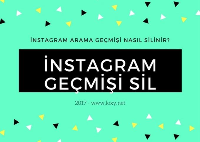 instagram arama geçmişi nasıl silinir