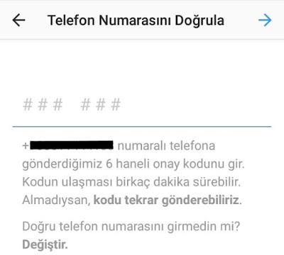 instagram telefon ekleme