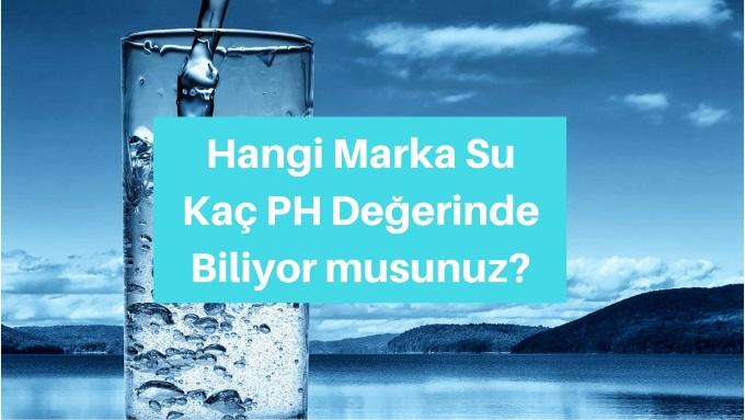 alkali su markaları ph değeri