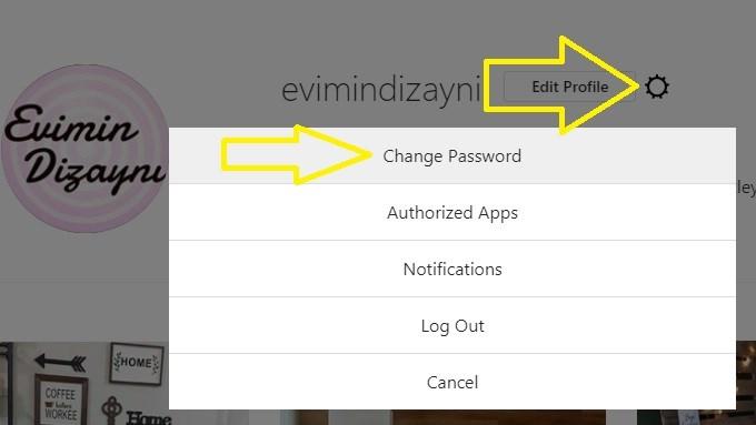 instagram şifre değiştirme bilgisayardan 1