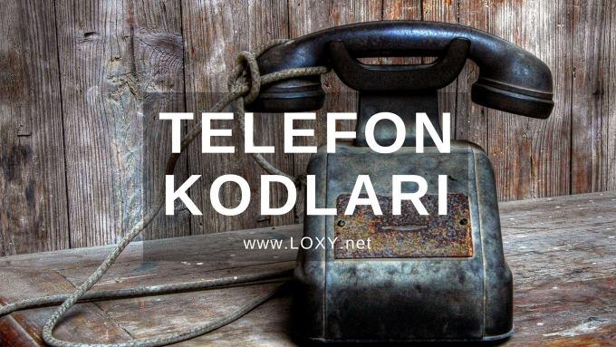 il telefon kodları