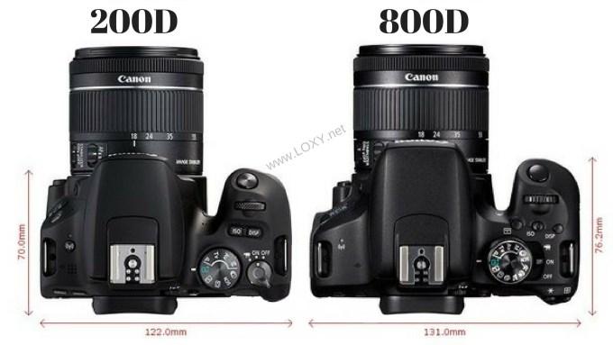 200D vs 800D boyutlar
