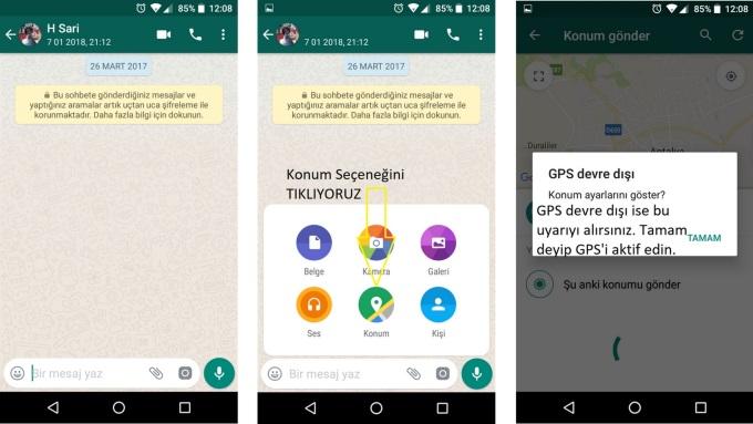 Whatsapp Konum Nasıl Atılır 1