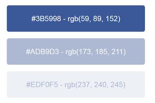 facebook renk kodu