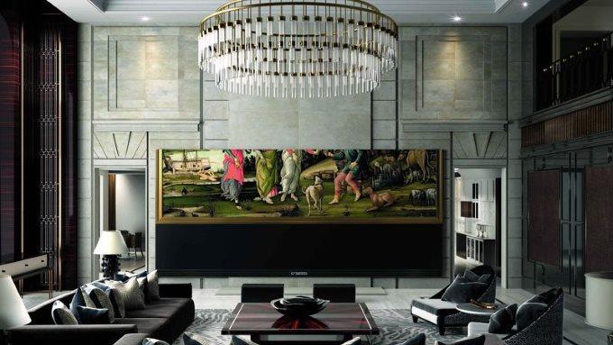 en pahalı en büyük televizyon
