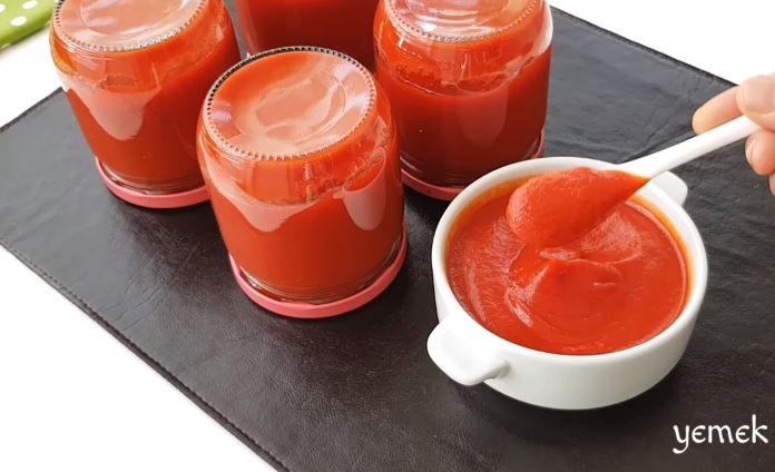 kışlık domatesli biberli sarımsaklı sos tarifi