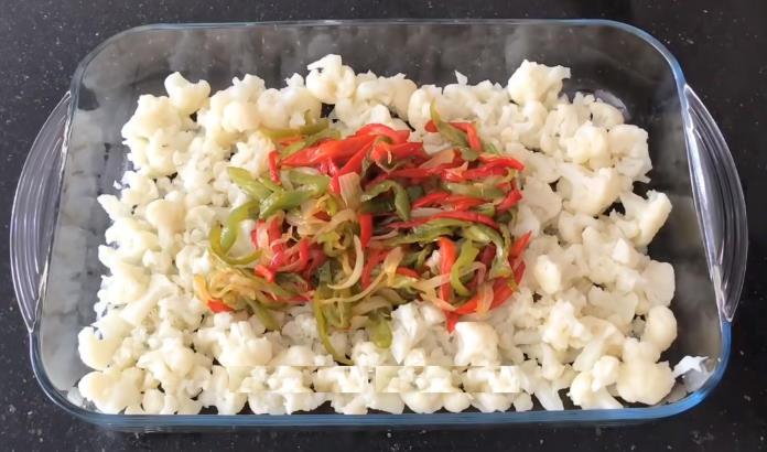 Fırında sebzeli karnabahar yemeği tarifi
